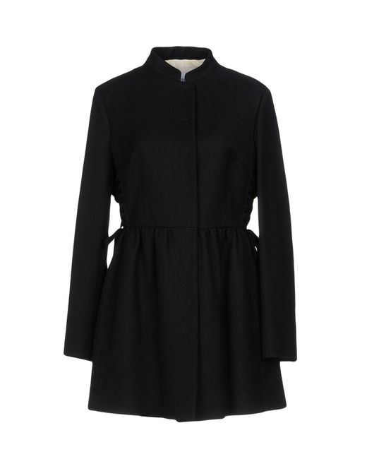 RED Valentino Black Overcoat