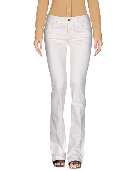 Manila Grace - White Casual Trouser - Lyst