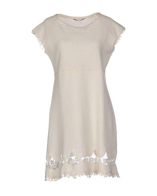Ermanno Scervino - White Short Dress - Lyst