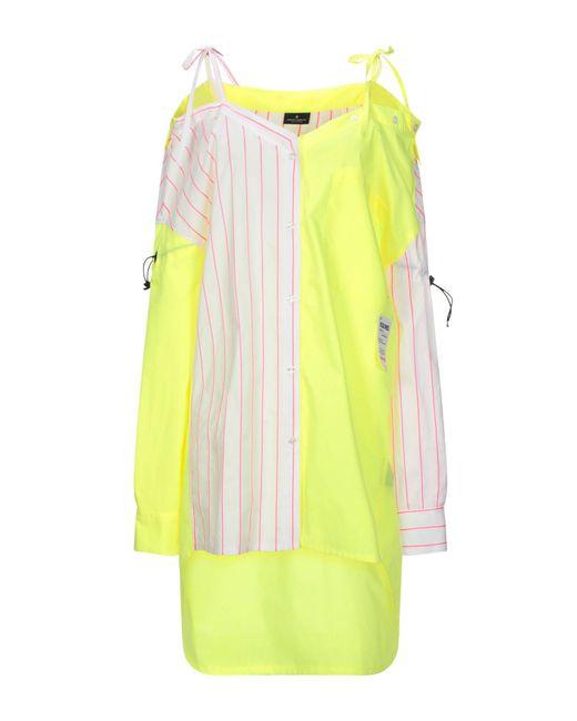 Vestito corto di Marcelo Burlon in Yellow