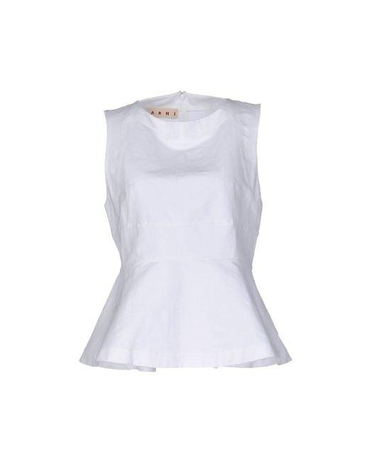 Marni Top de mujer de color blanco z2re6