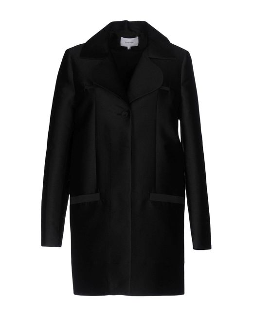 Carven - Black Coat - Lyst