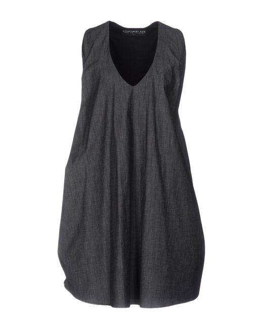 Department 5 - Gray Short Dress - Lyst