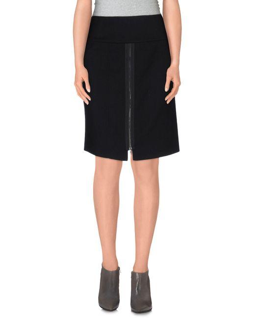 Donna Karan | Black Mini Skirt | Lyst