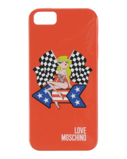 Love Moschino   Red Hi-tech Accessories   Lyst