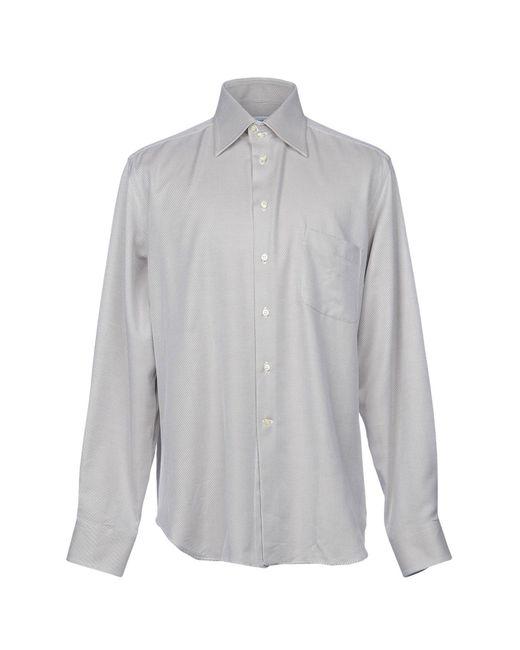 Bagutta - Gray Shirts for Men - Lyst