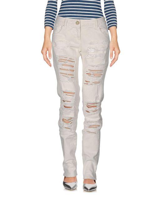 Relish - White Denim Trousers - Lyst
