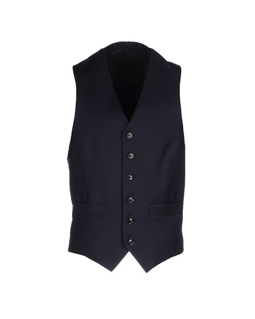 Hardy Amies - Blue Vest for Men - Lyst