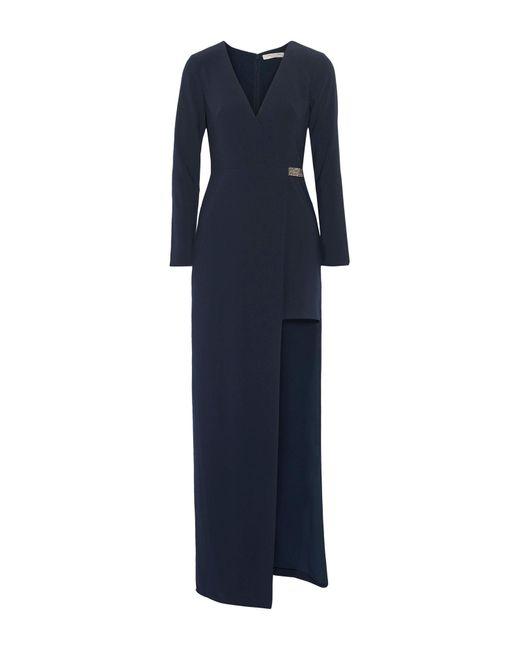 Robe longue Halston Heritage en coloris Blue