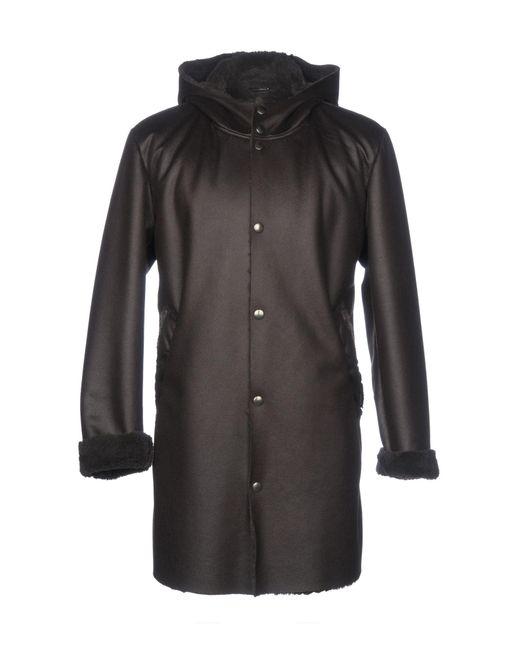 Grey Daniele Alessandrini Brown Coat for men