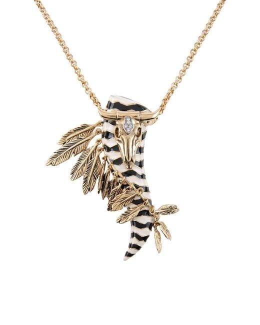 Roberto Cavalli   Metallic Necklace   Lyst