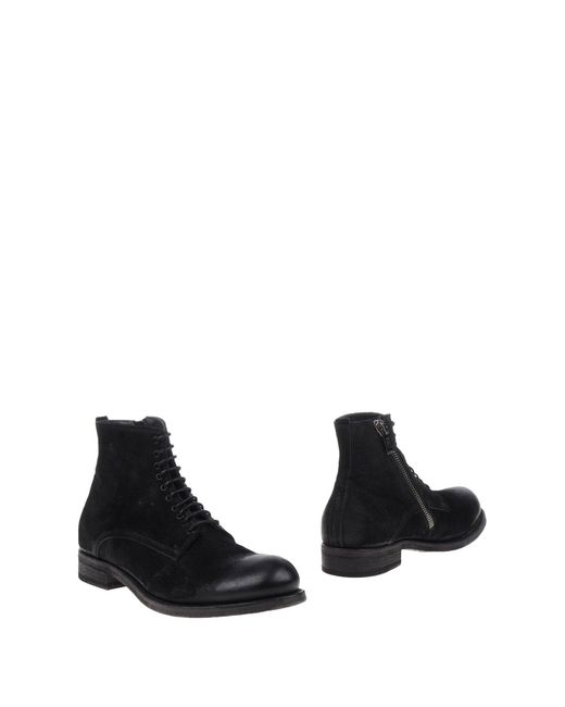 Pantanetti Black Ankle Boots for men