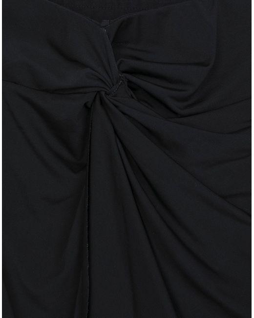 Jupe au genou ..,merci en coloris Black