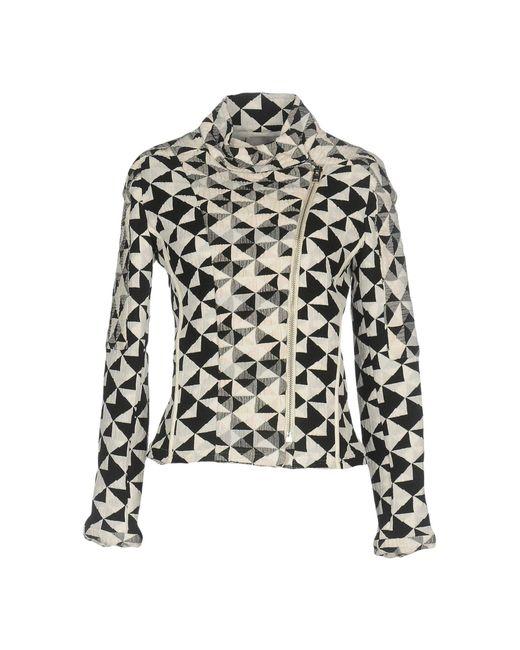 IRO - White 'Tavia' Textured Triangle Woven Jacket - Lyst