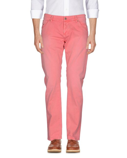 Dondup - Pink Casual Pants for Men - Lyst