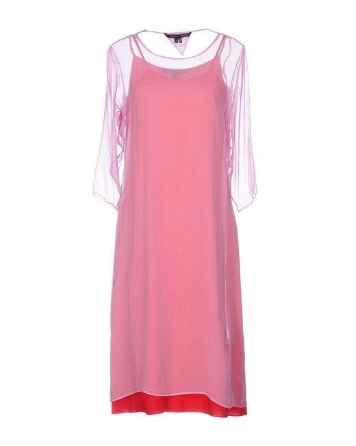 Theyskens' Theory - Pink Knee-length Dress - Lyst