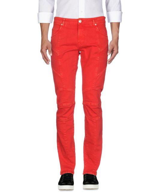 Pantalon en jean Balmain pour homme en coloris Red