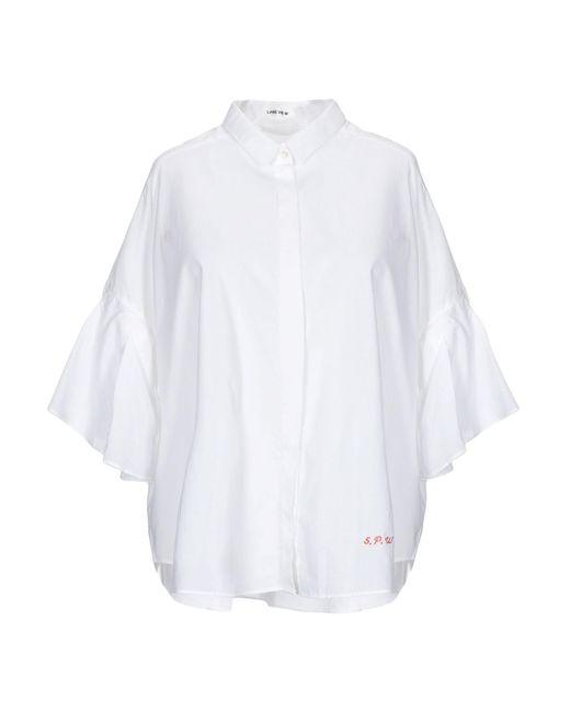 5preview Camicia da donna di colore bianco