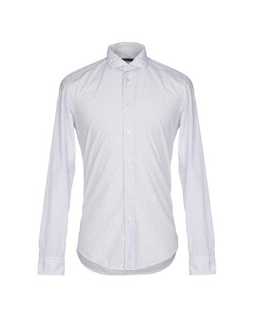 Brian Dales Camicia da uomo di colore bianco