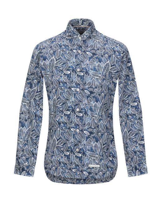 Tintoria Mattei 954 Camicia da uomo di colore blu