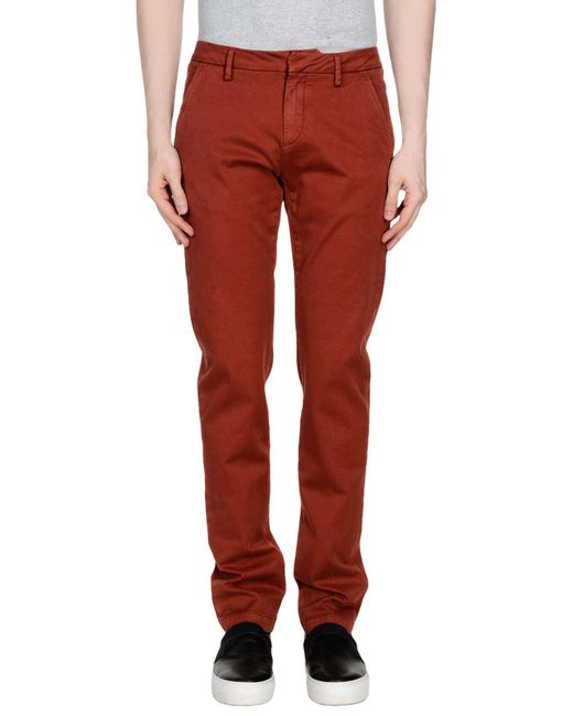 TRUE NYC - Red Casual Trouser for Men - Lyst