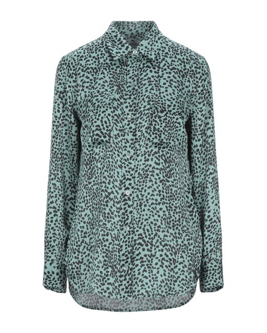 Equipment Camisa de mujer de color verde tok3R