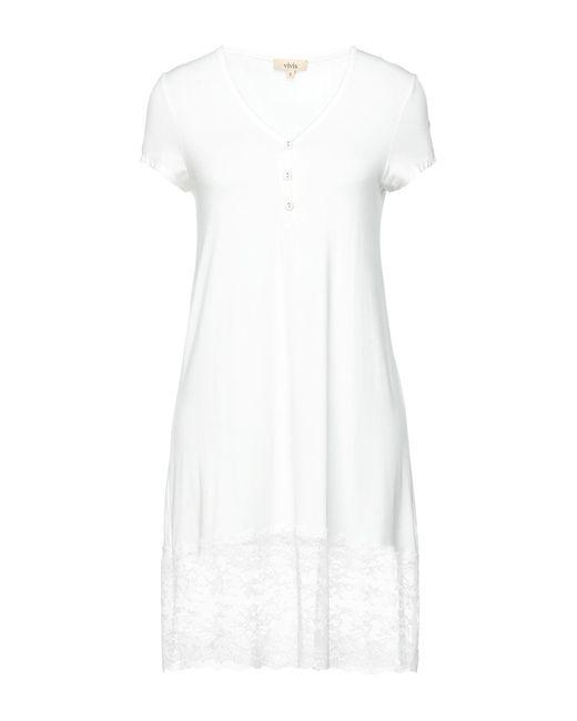 Chemise de nuit Vivis en coloris White