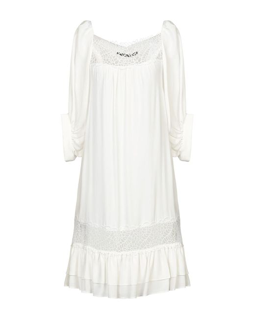 Vestido por la rodilla Annarita N. de color White