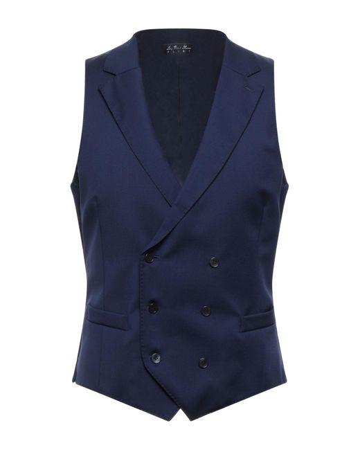 Luigi Bianchi Mantova Blue Waistcoat for men