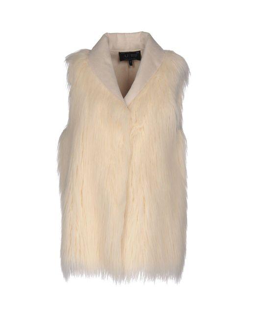 Armani Jeans White Faux Fur