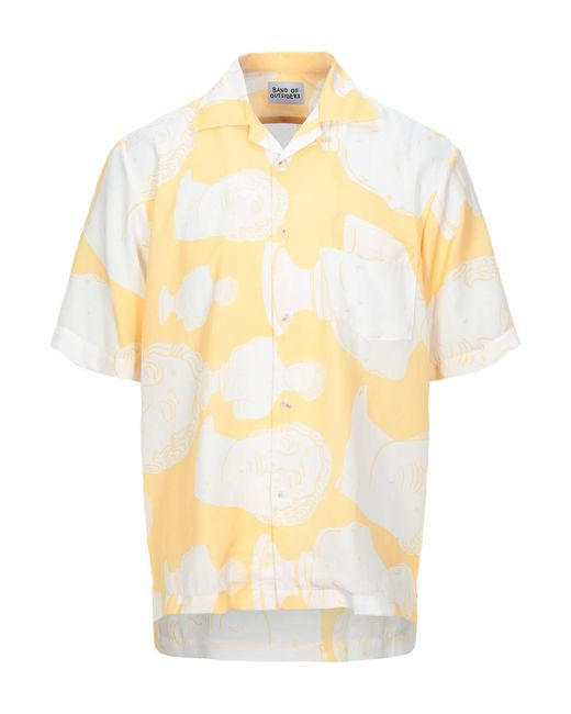 Band of Outsiders Yellow Summer Shirt for men