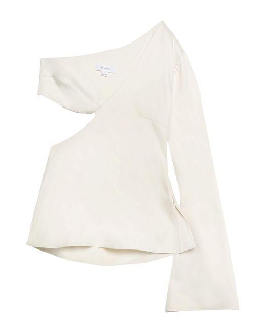 Beaufille Blusa de mujer de color blanco jhEHG