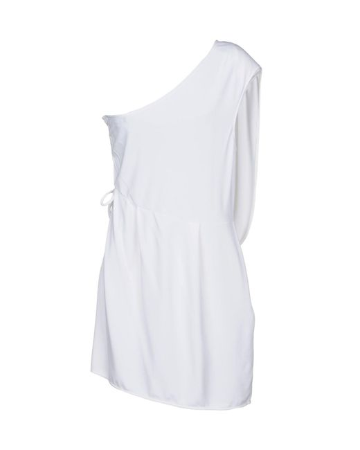 Elisabetta Franchi White Short Dress