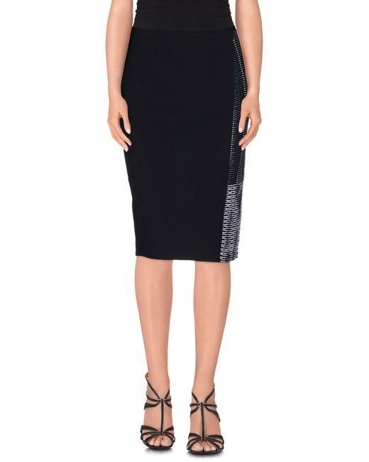 Elie Tahari | Blue Knee Length Skirt | Lyst