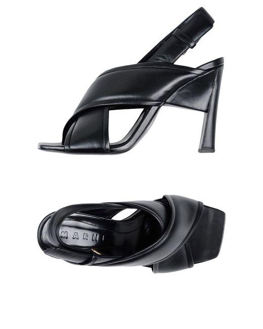 Sandalias Marni de color Black