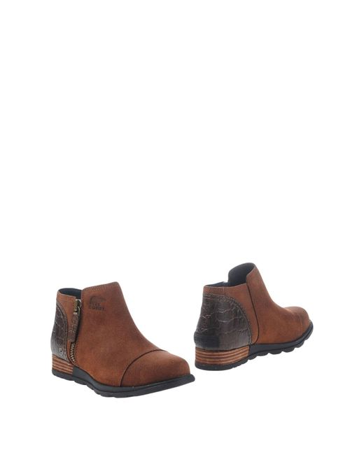 Sorel - Brown Ankle Boots - Lyst