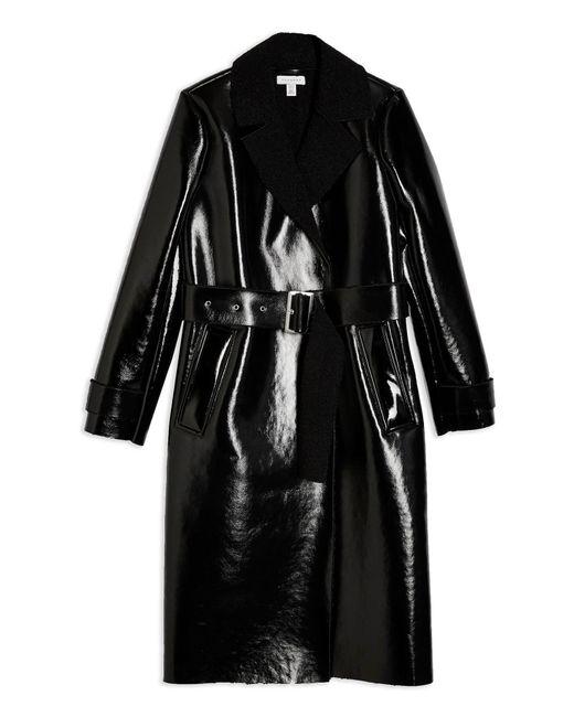 TOPSHOP Abrigo de mujer de color negro