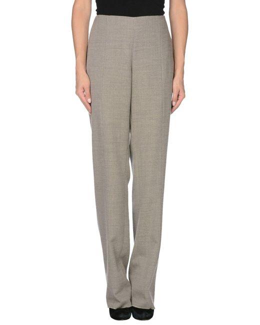 Armani   Gray Casual Pants   Lyst