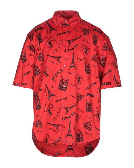 Camisa Balenciaga de hombre de color Red