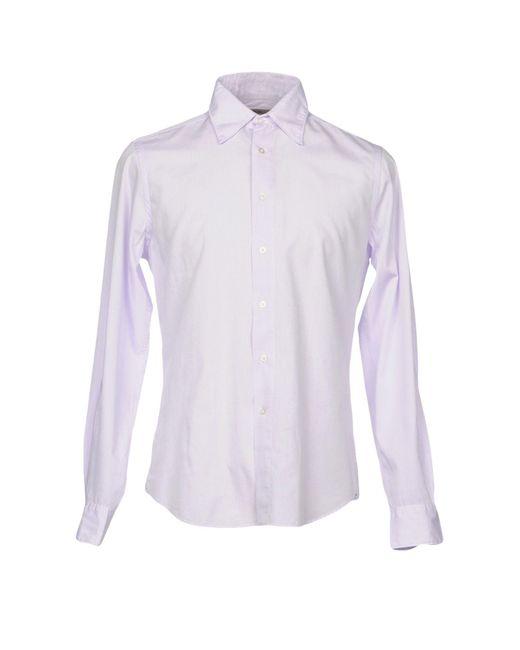 Boglioli - Purple Shirt for Men - Lyst