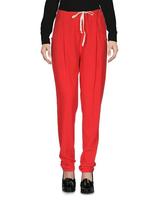 Ottod'Ame - Red Casual Trouser - Lyst