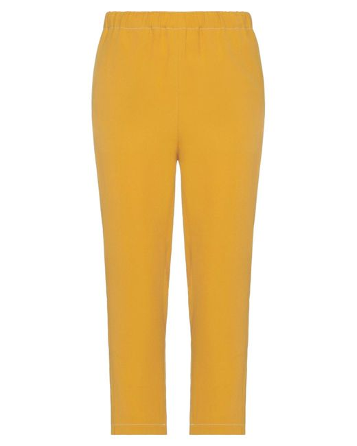 Marni Yellow 3/4-length Trousers