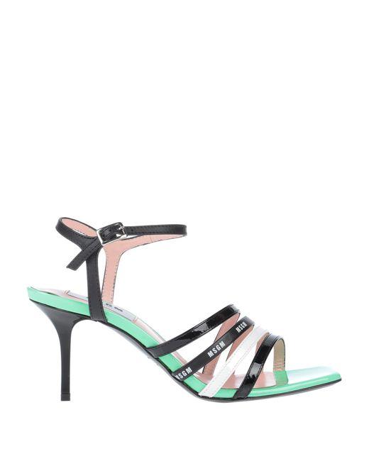 MSGM Black Sandals