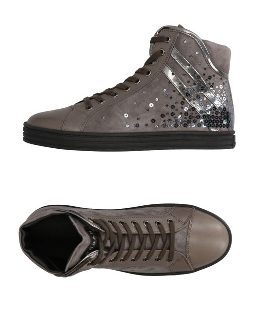 Hogan Rebel Gray High-tops & Sneakers