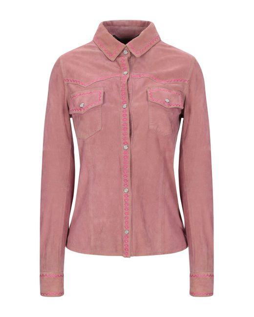 Aristolasia Camisa de mujer de color rosa byhqR