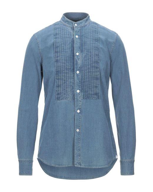 Bagutta Camicia da uomo di colore blu