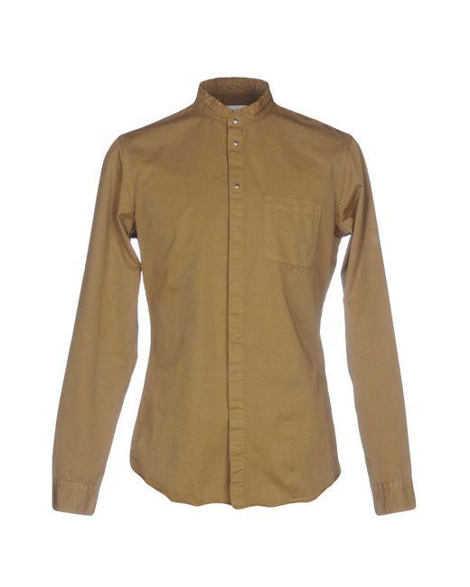 Dondup Camicia da uomo di colore neutro