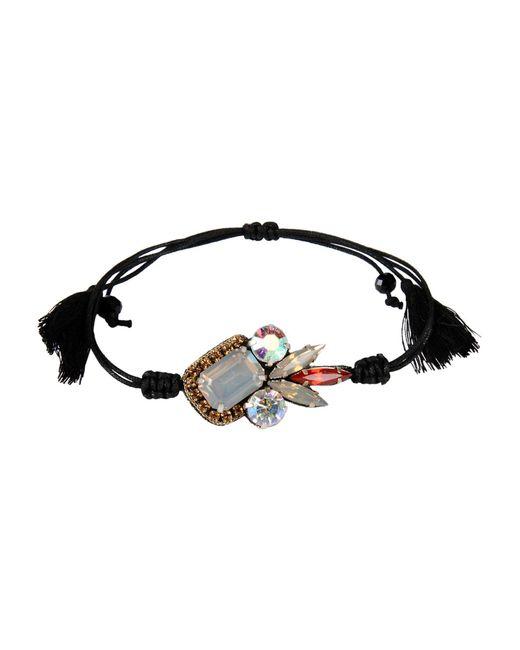 Deepa Gurnani   Black Bracelet   Lyst