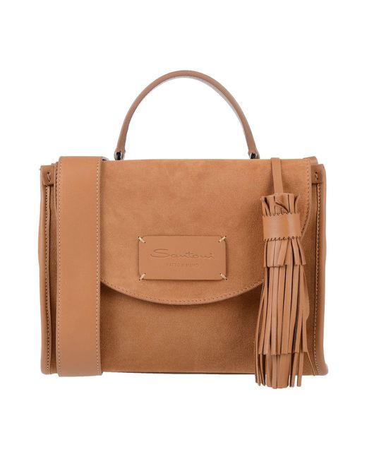 Santoni Brown Handbag