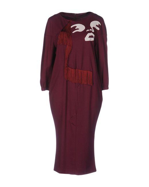 Frankie Morello - Purple Knee-length Dress - Lyst